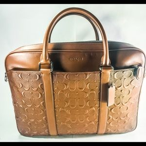 NWT Men's COACH Briefcase With removeable strap